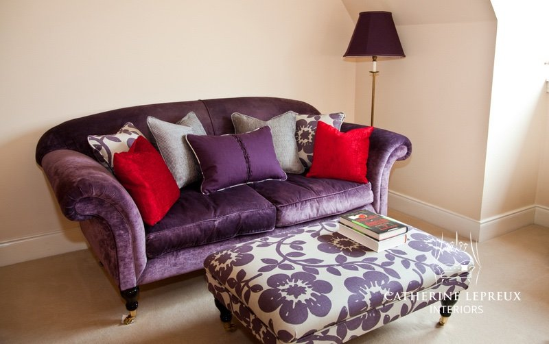 interior design with bespoke reading corner