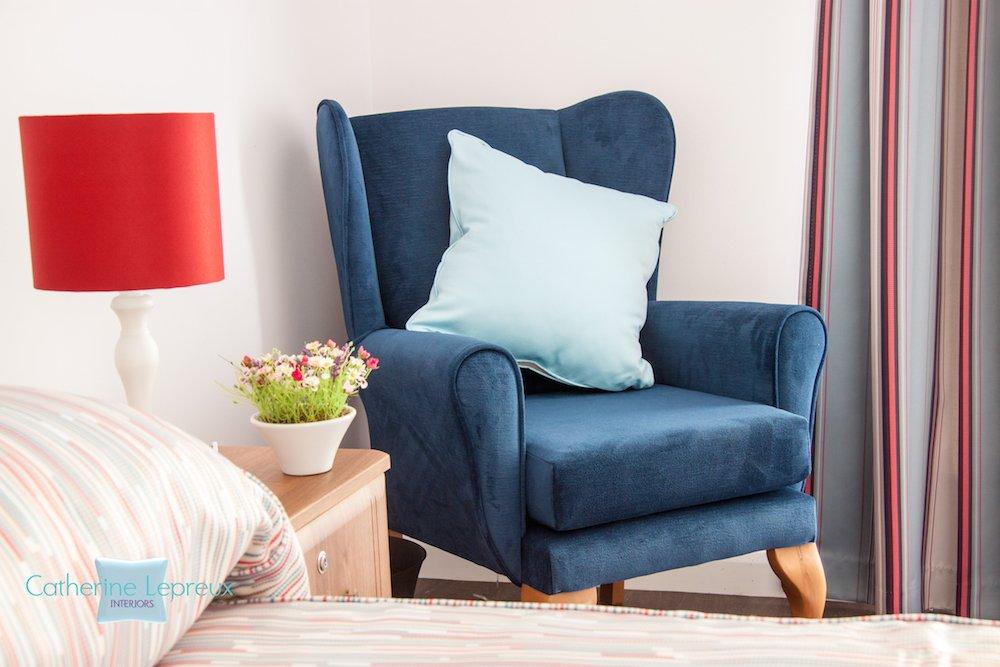Contemporary colour scheme for bedroom at Bandrum Nursing Home Fife