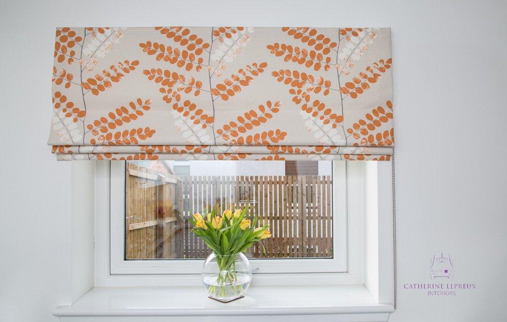 handmade blinds modern kitchen window Edinburgh