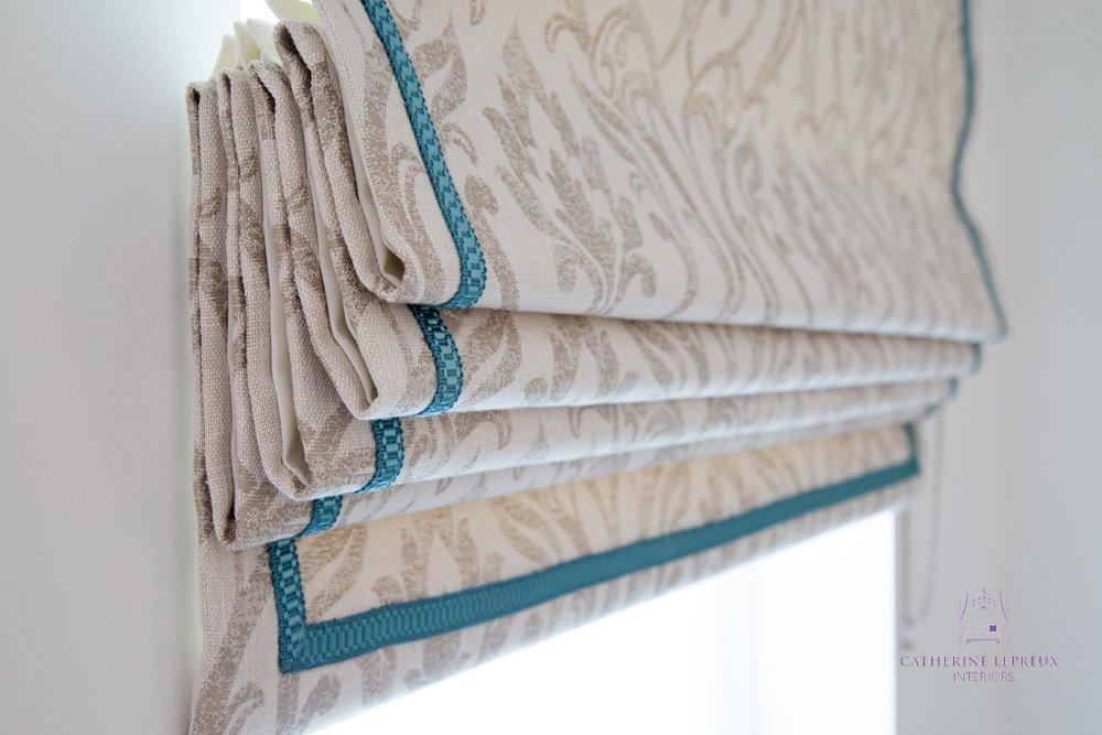 soft furnishings handmade blinds roman Clarke Clarke Edinburgh braid trimming