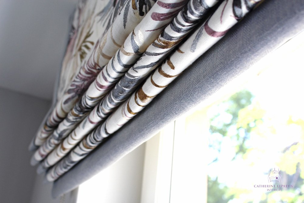 hand made roman blind Harlequin Momentum Edinburgh