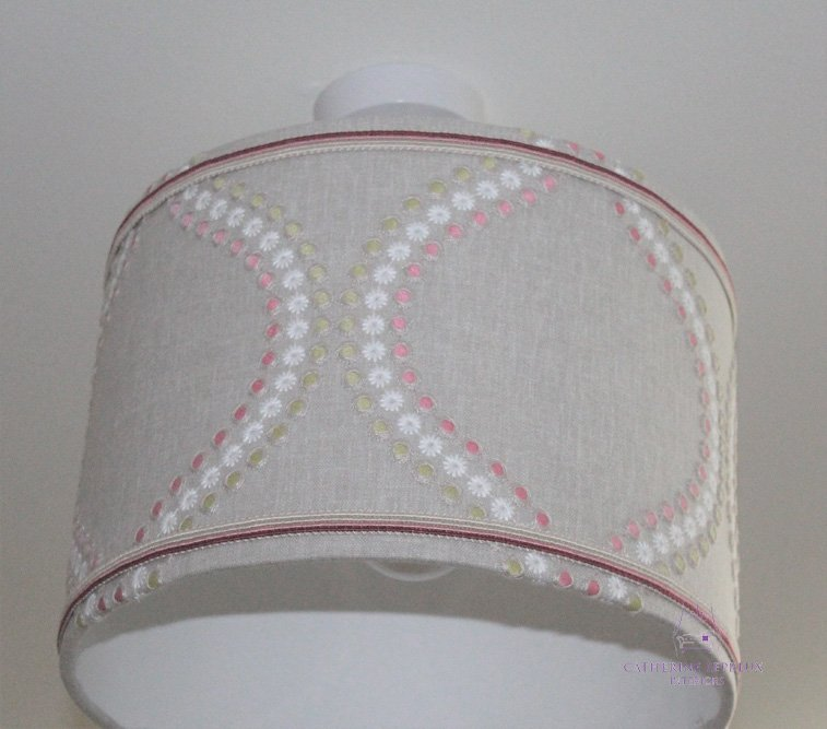 soft furnishings handmade lampshade braid trimming Fife