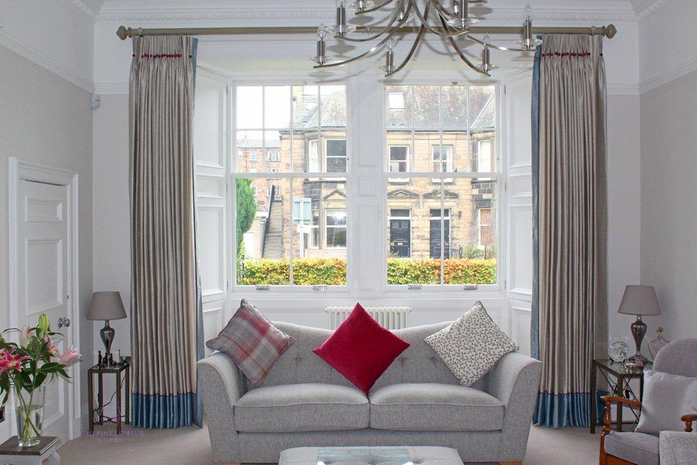 hand made silk curtains traditional Edinburgh window