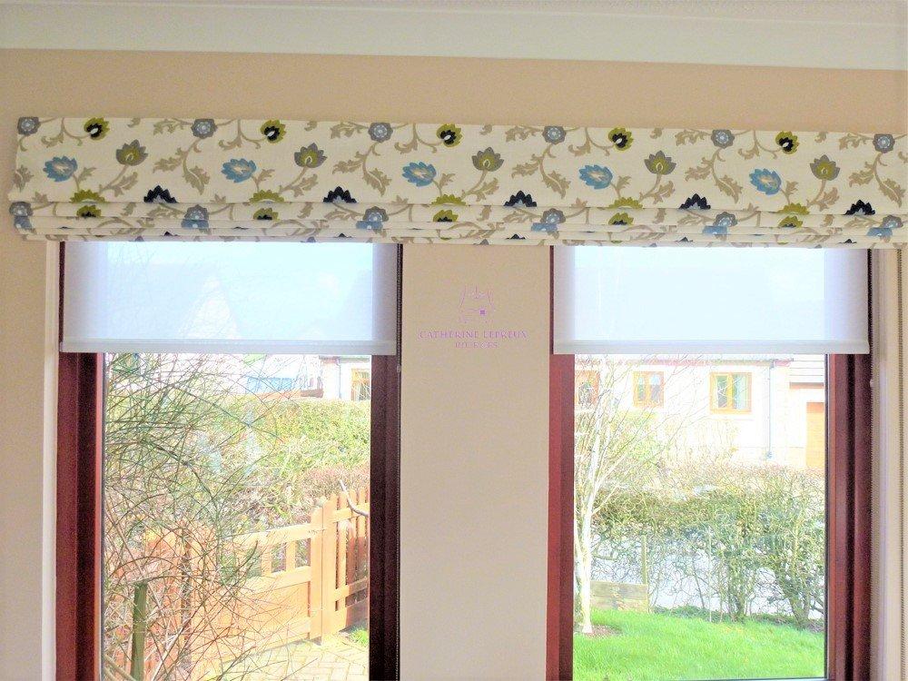 A row of windows: Curtains & Blinds for odd windows