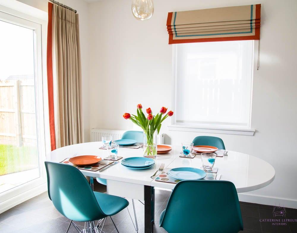 Contrast borders braid orange turquoise colour scheme sm