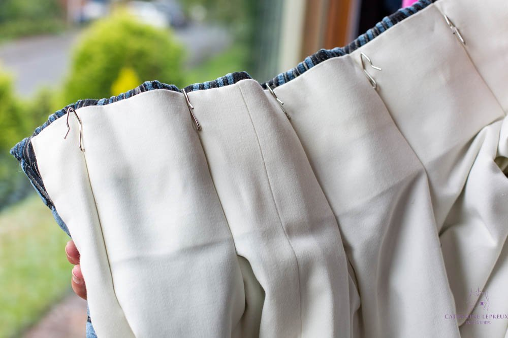 details of handmade, bespoke curtains