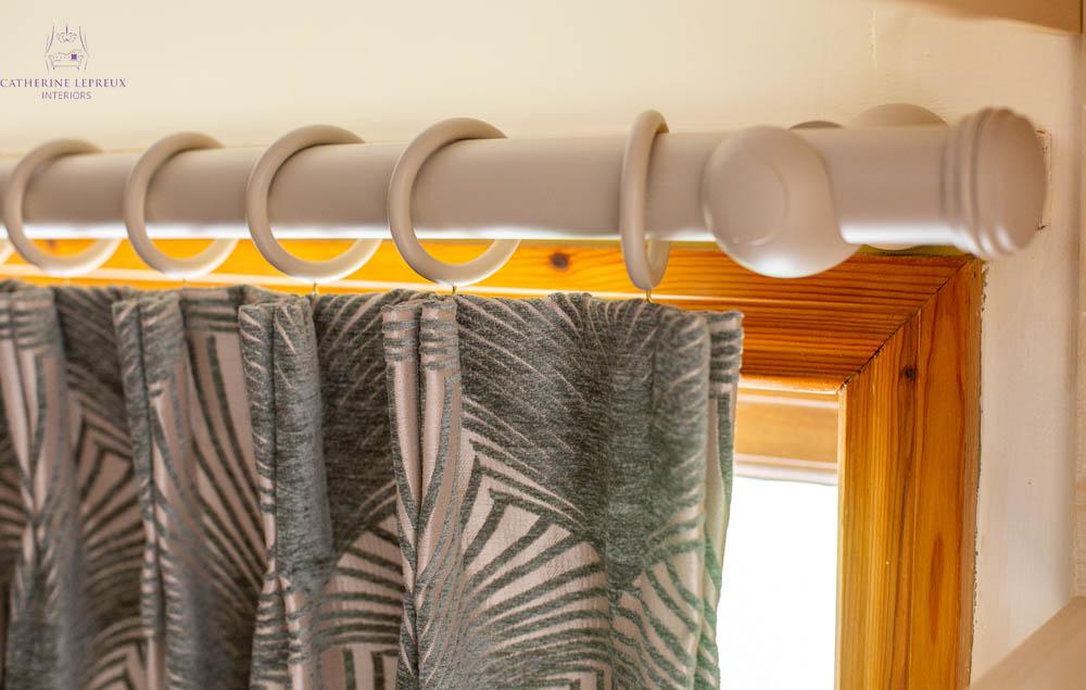 bespoke curtain pole finishes