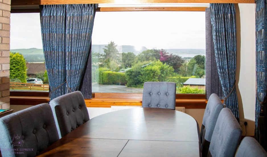Framing the view: Curtains & blinds for an 80s property in Perth & Kinross
