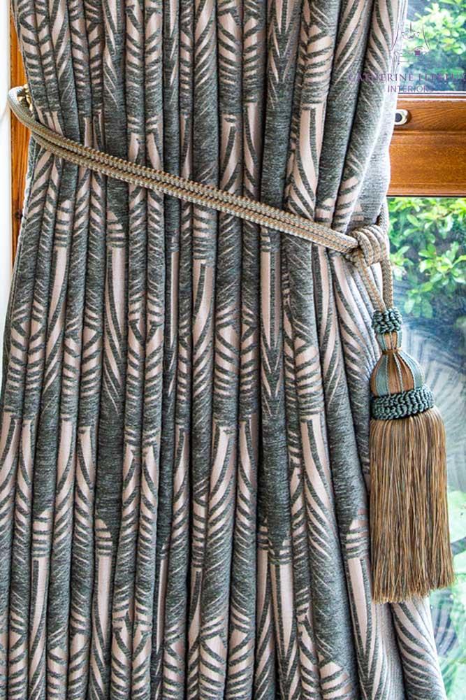 bespoke tiebacks for the kitchen snug curtains