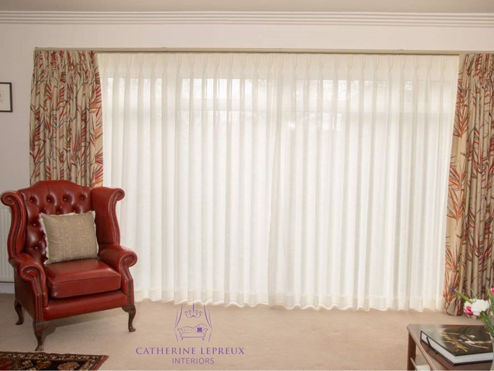 hidden curtain track for semi-sheer voile curtains